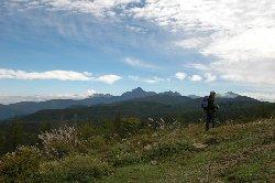 入笠山から甲斐駒ヶ岳を望む