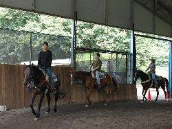 馬場でのレッスン