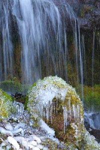 綺麗な吐竜の滝