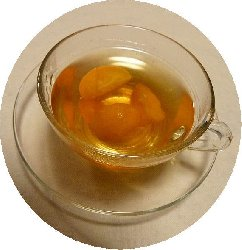 実と一緒にいただく金柑茶