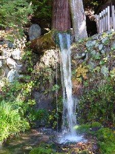 桶口から落ちる湧水