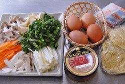 天津麺の今日の材料