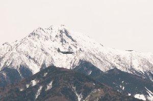冬の凍てついた赤岳