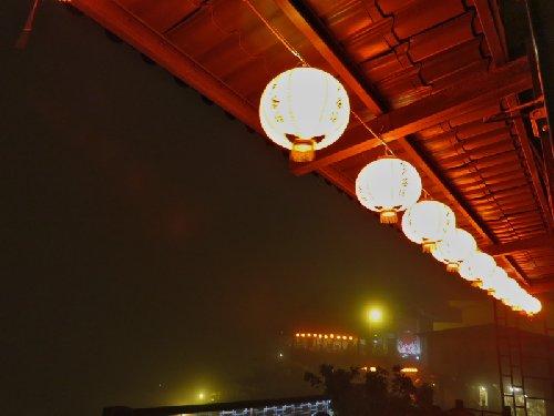 九戸茶語からの霧に煙る夜景