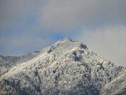 権現岳の山頂付近