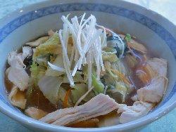 茹鳥と野菜の味噌ラーメン