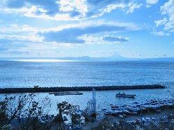 佐島湊と富士山