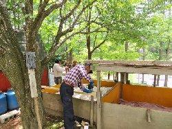 堆肥置き場の屋根