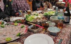 テーブルいっぱいのお料理