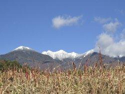 八ヶ岳が真っ白