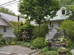 ペンションあるびおんの前庭