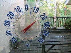 8月2日朝6時30分の気温 18.5度