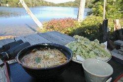 白駒山荘 天ぷら蕎麦