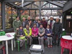 八ヶ岳倶楽部で柳生博さんと記念撮影