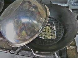 中華鍋で温燻