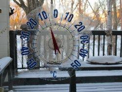 今朝7時の温度は-6℃