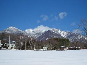 冬らしい八ヶ岳