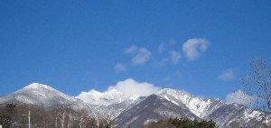 小渕沢から見られる八ヶ岳
