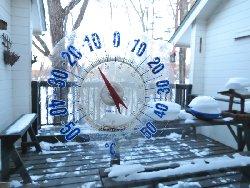 朝7時の外気温