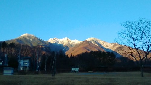 夕暮れの八ヶ岳