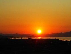 琵琶湖の落日
