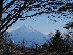 八ヶ岳倶楽部から見える富士山