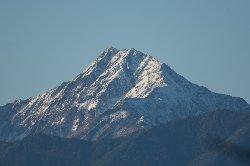 北岳も冠雪